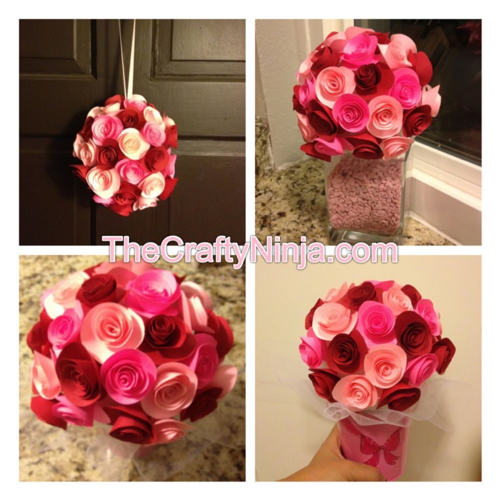 Diy paper rose flower tutorial the crafty ninja izmirmasajfo