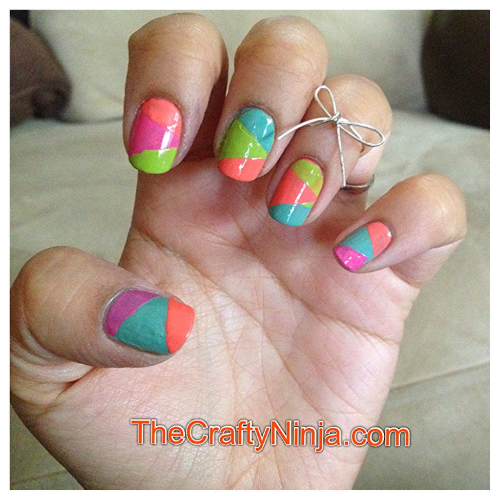 Nail Art With Tape: Color Blocking Nail Art