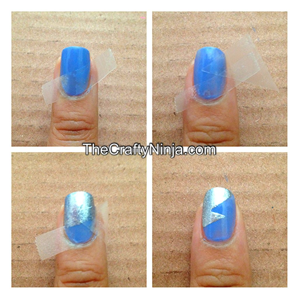 To create a double lightning nails wait for the nail polish to completely