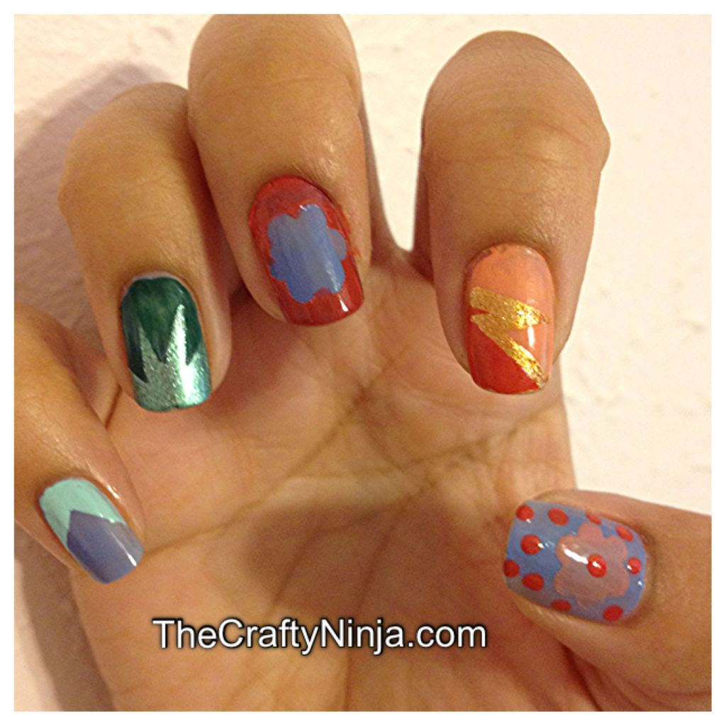 Tape Nail Art Designs: Nails With Tape@^