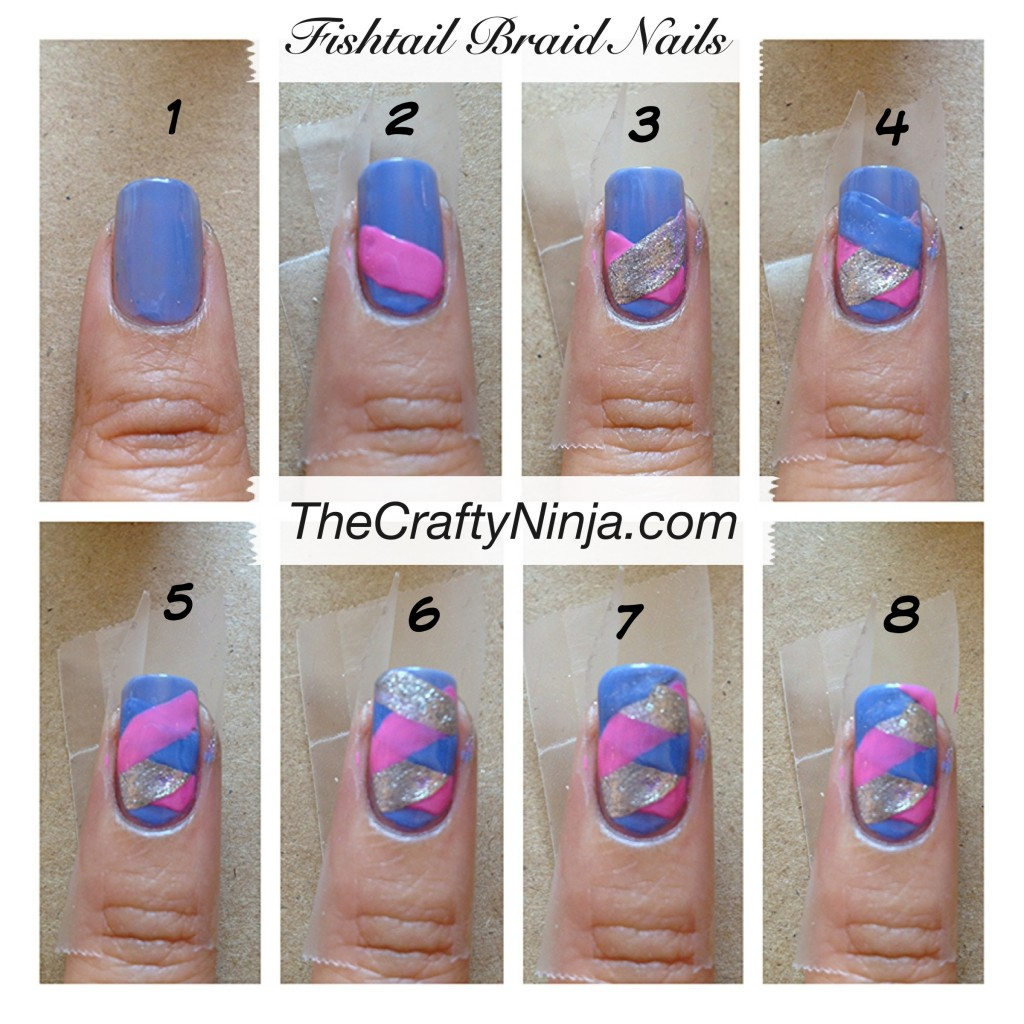 diy fishtail braid nail steps 1024x1024 Fishtail Braid Nails