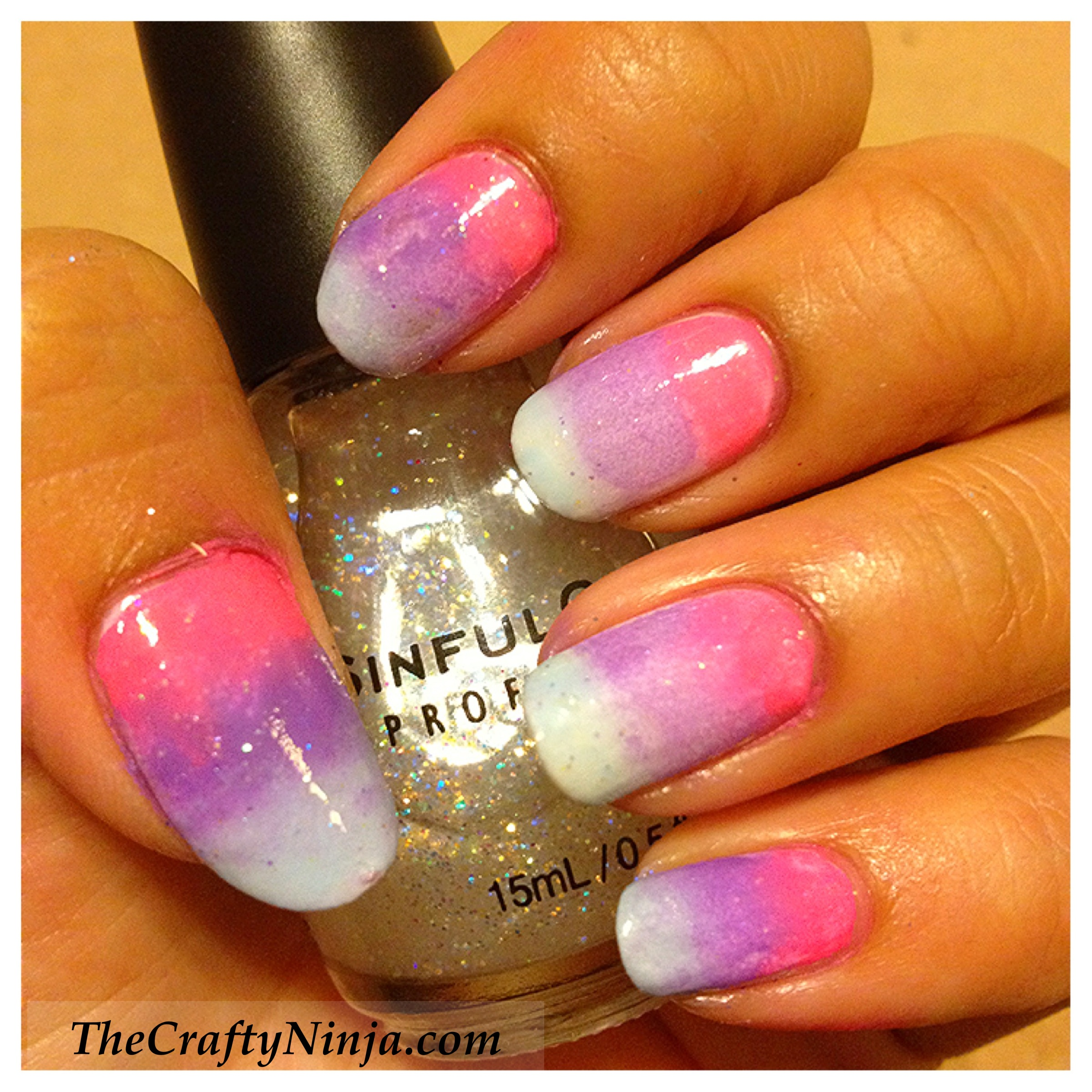 Gradient Ombre Nail Tutorial | The Crafty Ninja