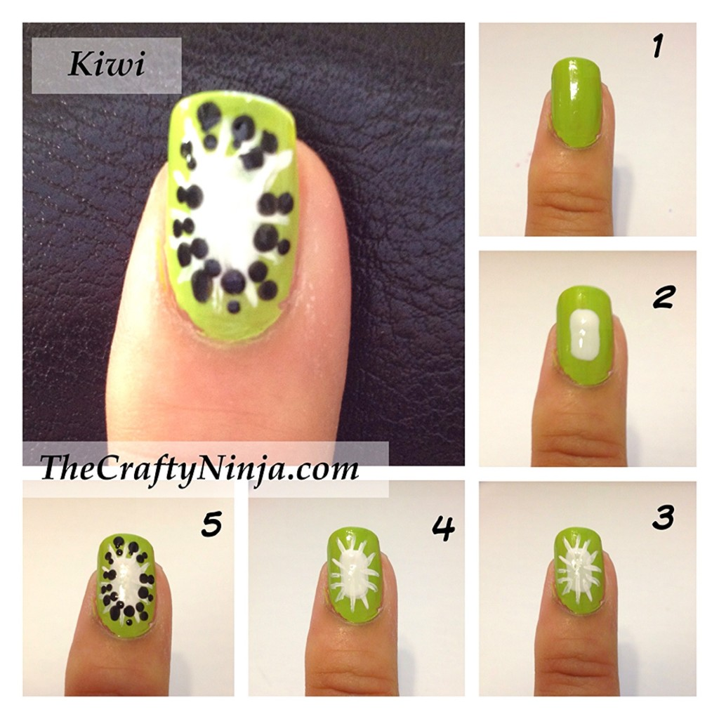 kiwi nail tutorial 1024x1024 Fresh Fruit Nail Tutorial