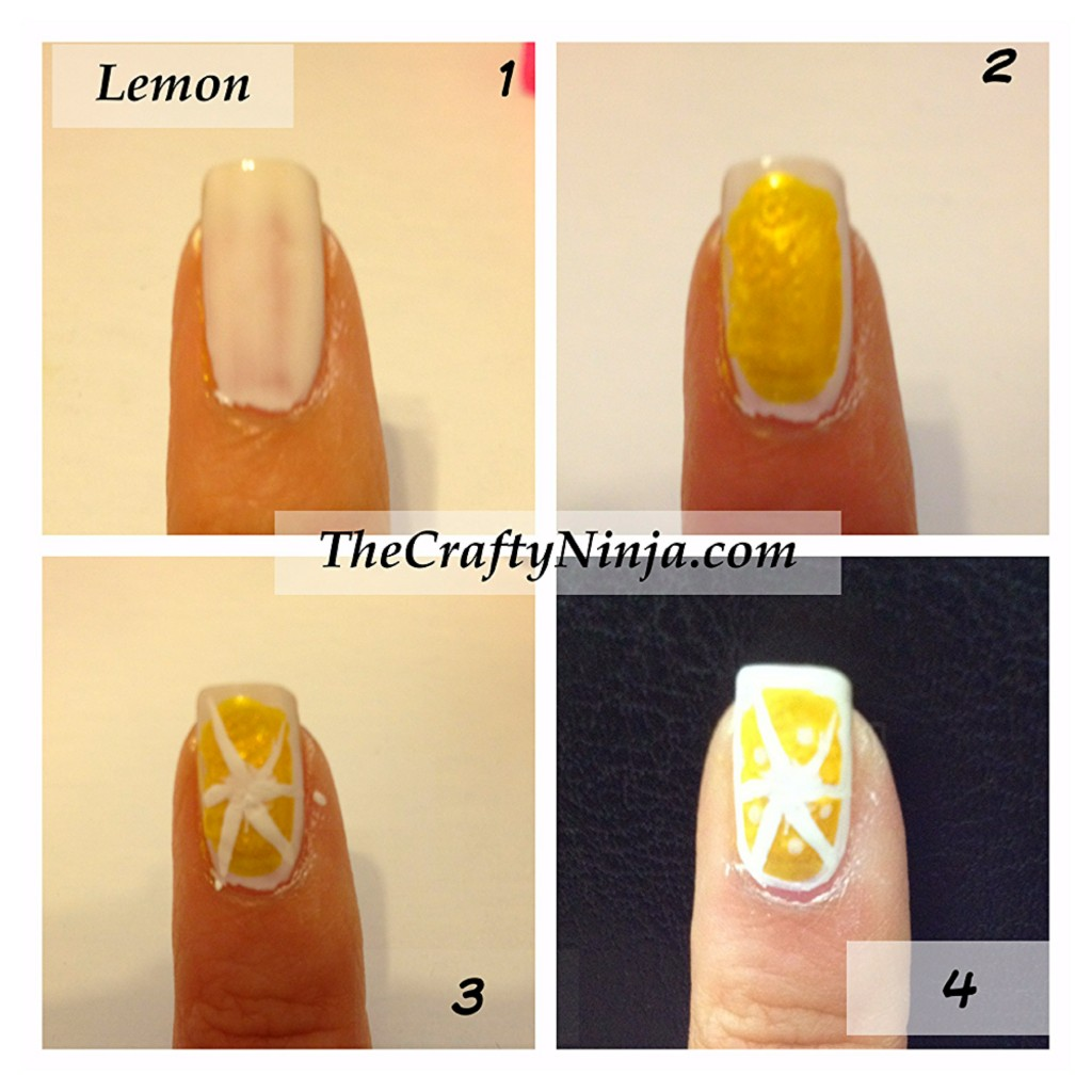 lemon nail tutorial 1024x1024 Fresh Fruit Nail Tutorial