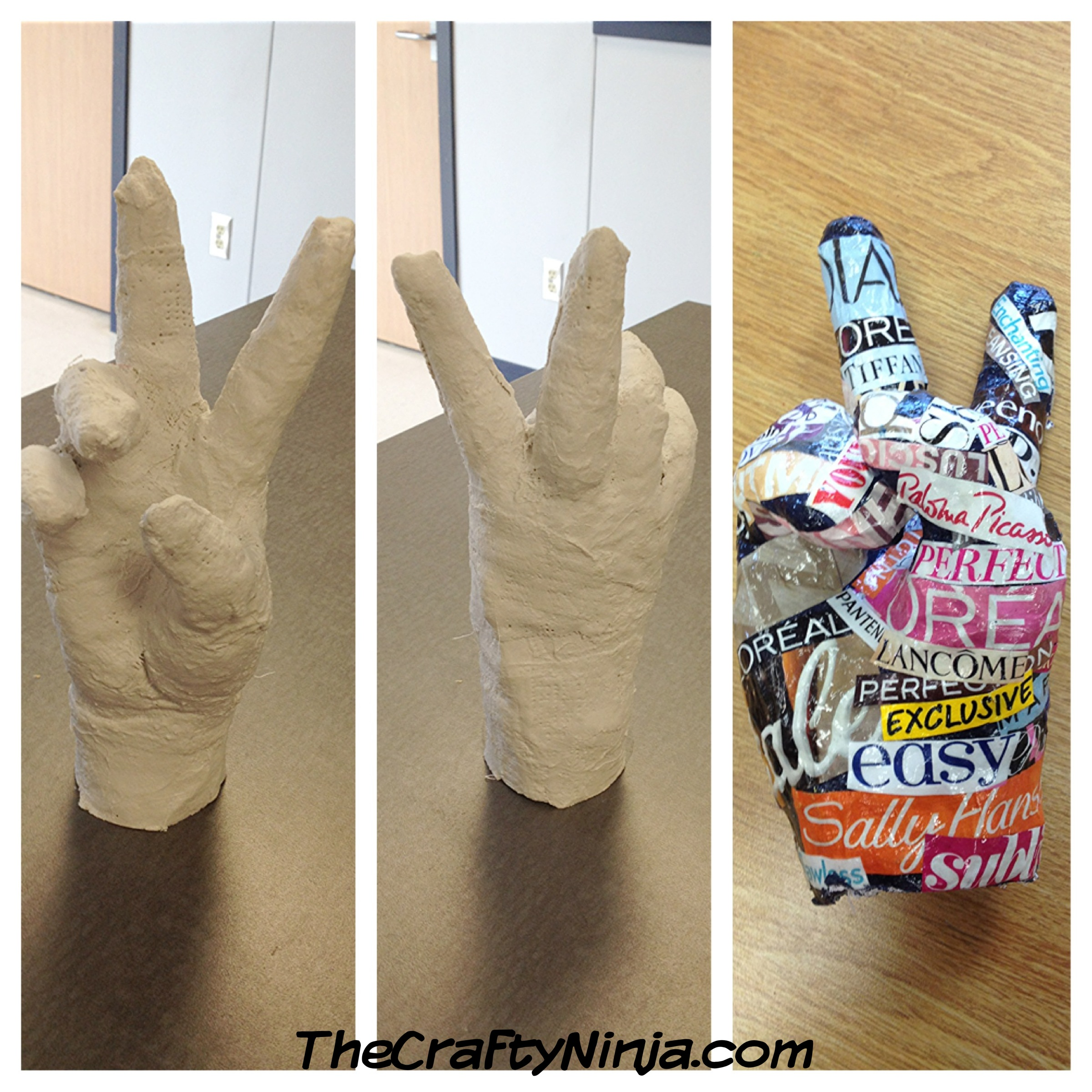 Plaster Hand Project The Crafty Ninja