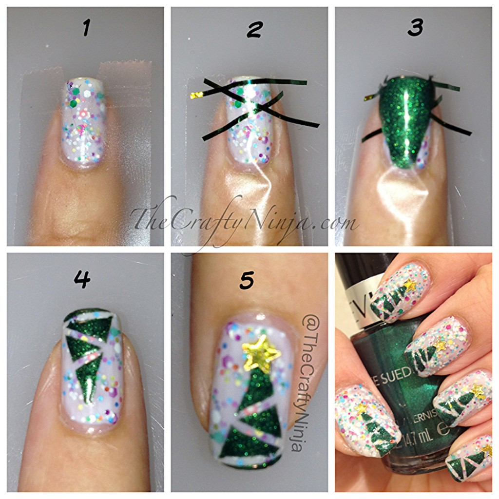 christmas tree tutorial 1024x1024 Christmas Tree Nails