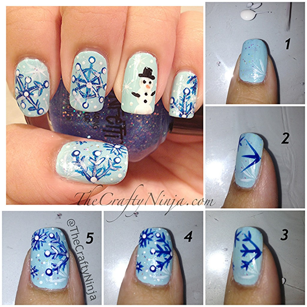 snowflake nails diy 1024x1024 Snowflake Nails
