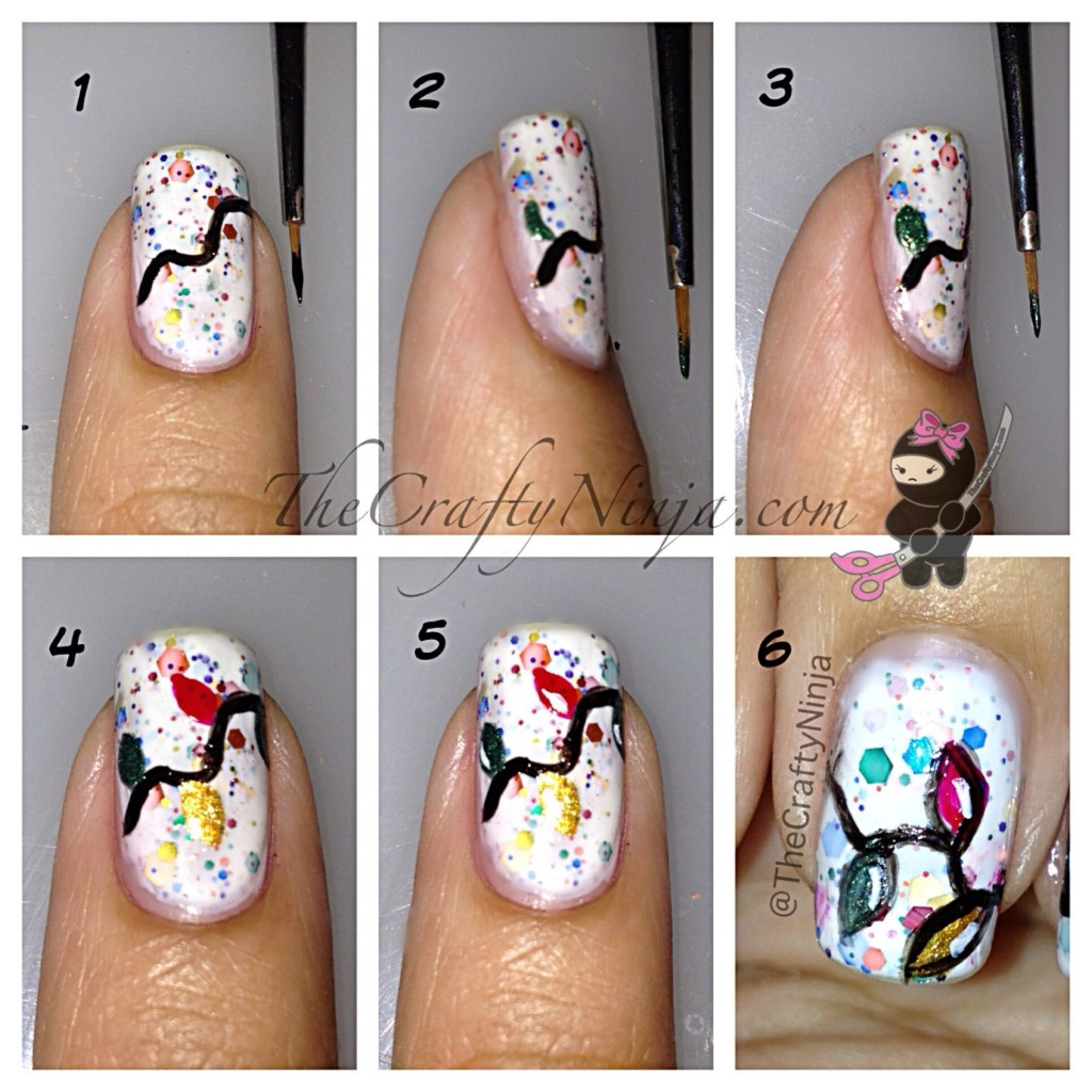 christmas lights nails diy 1024x1024 Christmas Lights Nails