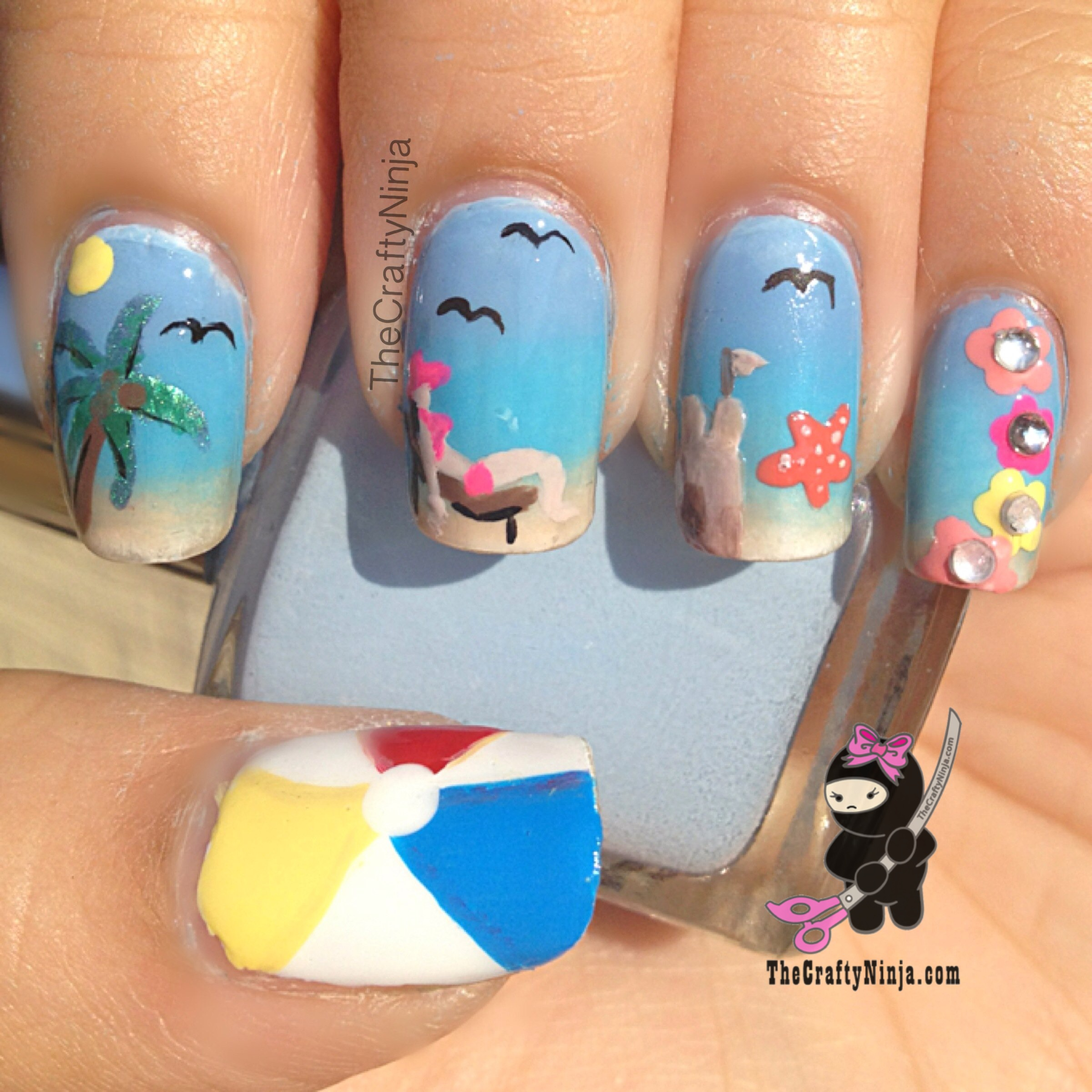 Nail art novice raras goin on a summer holiday she took inspiration from these nails prinsesfo Image collections