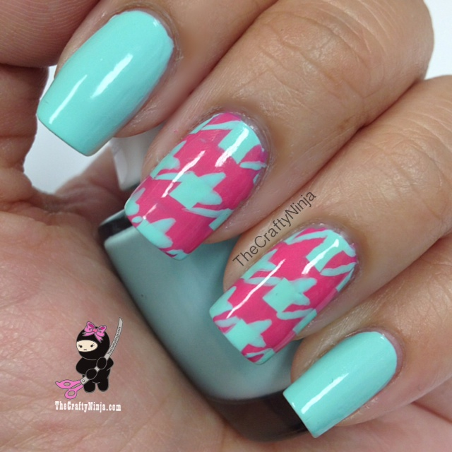 Nail Art Designs Tutorial Youtube: Houndstooth Nail Tutorial
