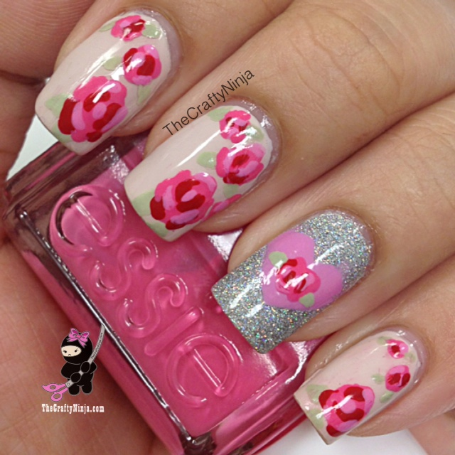 Rose Nails Pretty