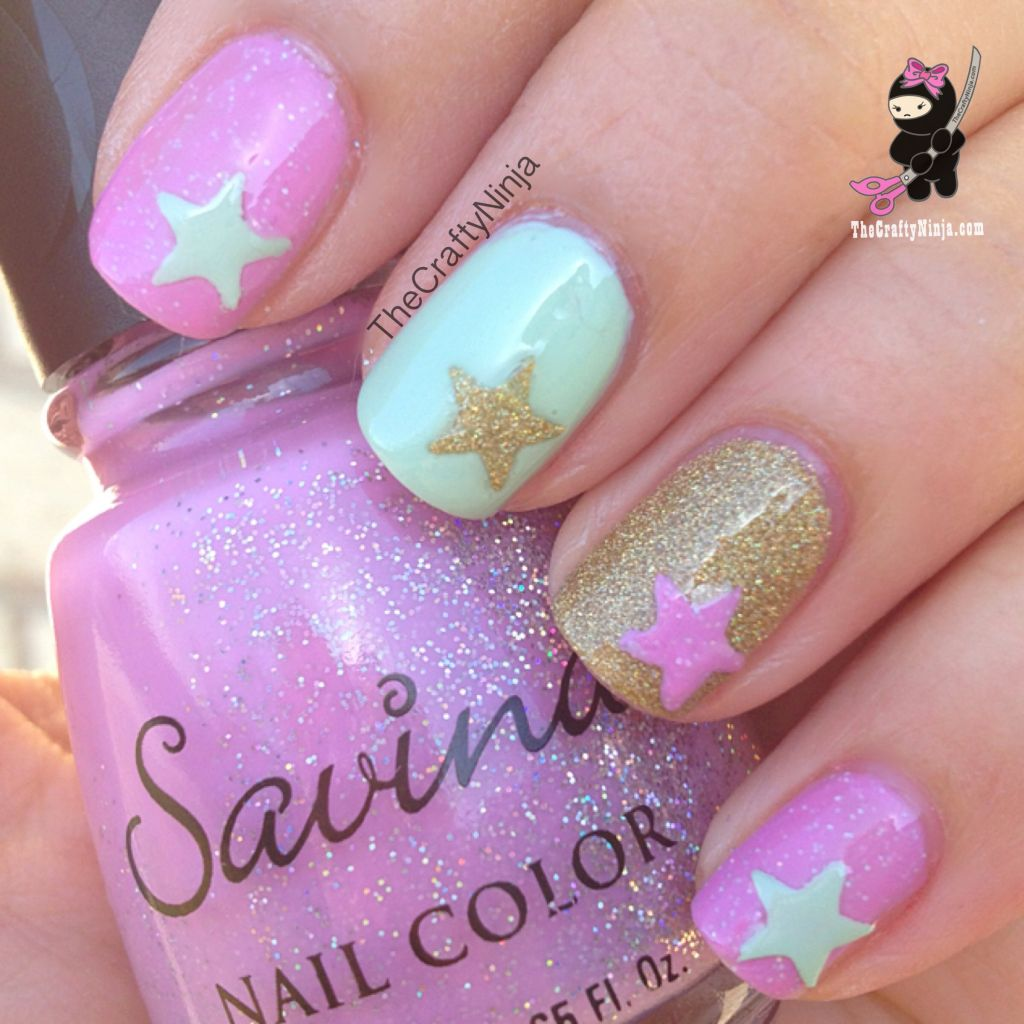 Mint Pink Spring Nails The Crafty Ninja