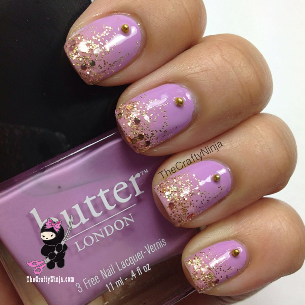 Glitter gradient nails the crafty ninja prinsesfo Gallery