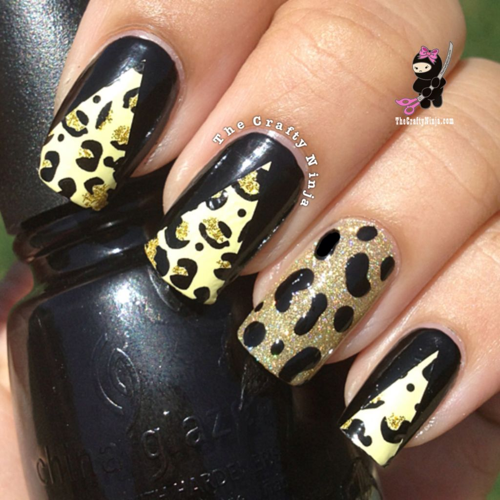 Cheetah Nail Foil Wraps | The Crafty Ninja