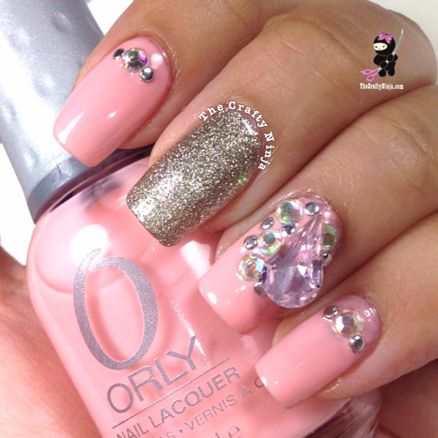 Nail Designs With Rhinestones Pink Rhinestone Nails ...