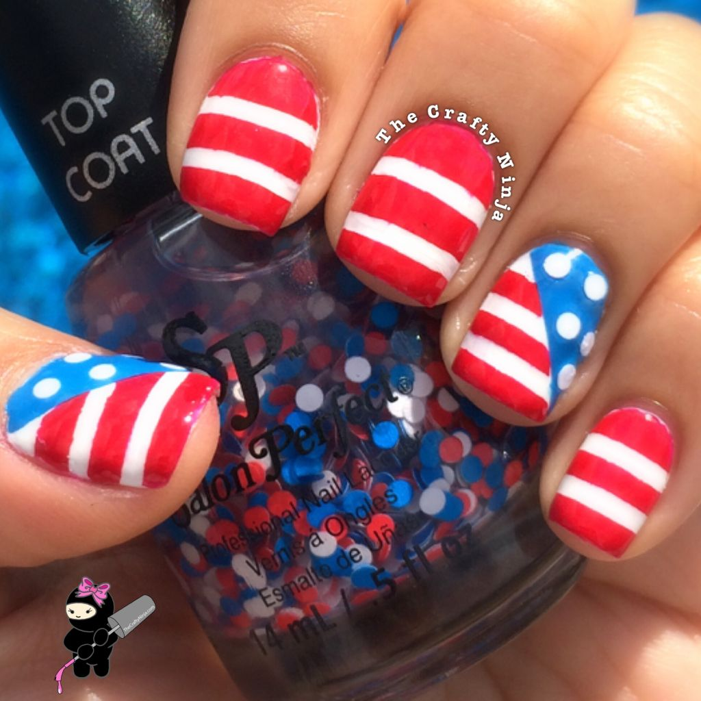 American flag nail art the crafty ninja for 4th of july nail art decoration flag