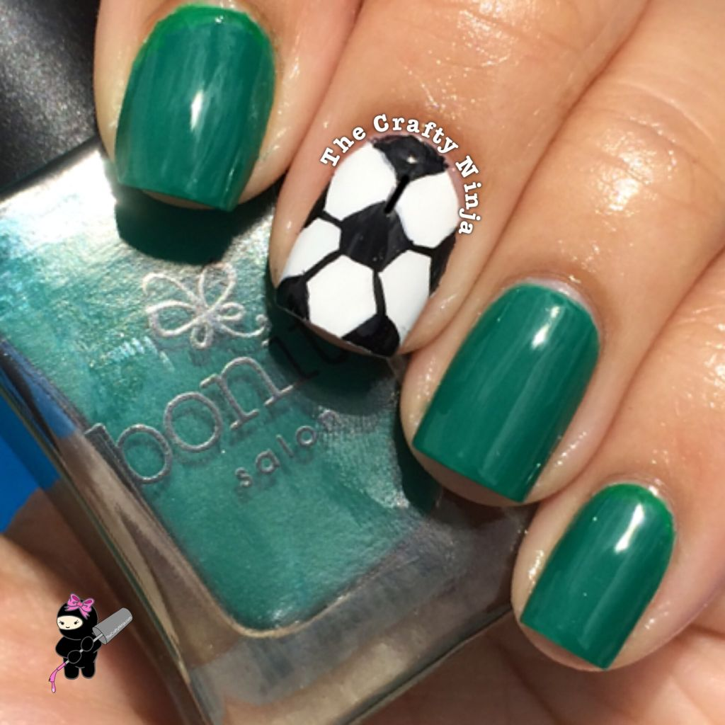 - Soccer Ball Nail Art The Crafty Ninja