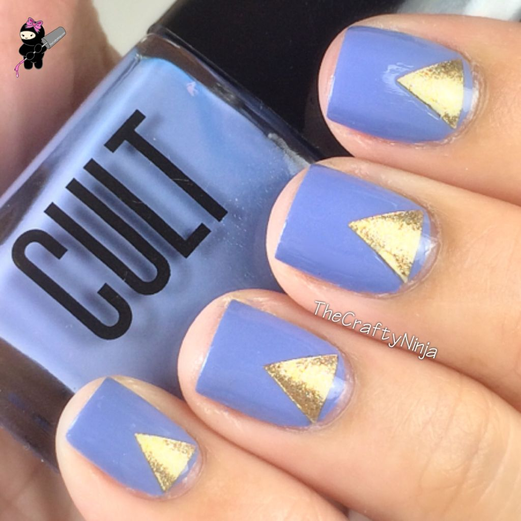 Check out this Nail Hack on how to create your own triangle nail stickers. - DIY Triangle Nail Art The Crafty Ninja