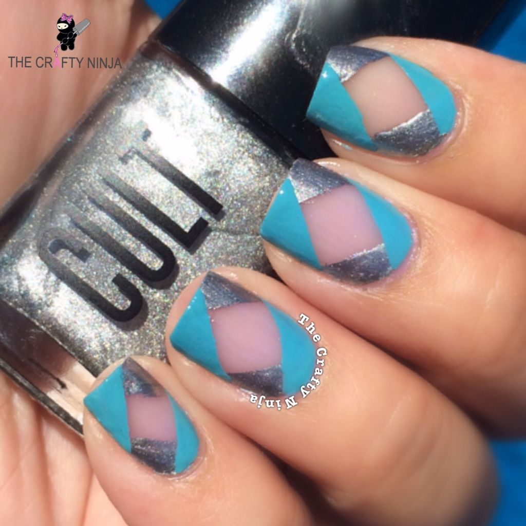 Diamond Negative Space Nails | The Crafty Ninja