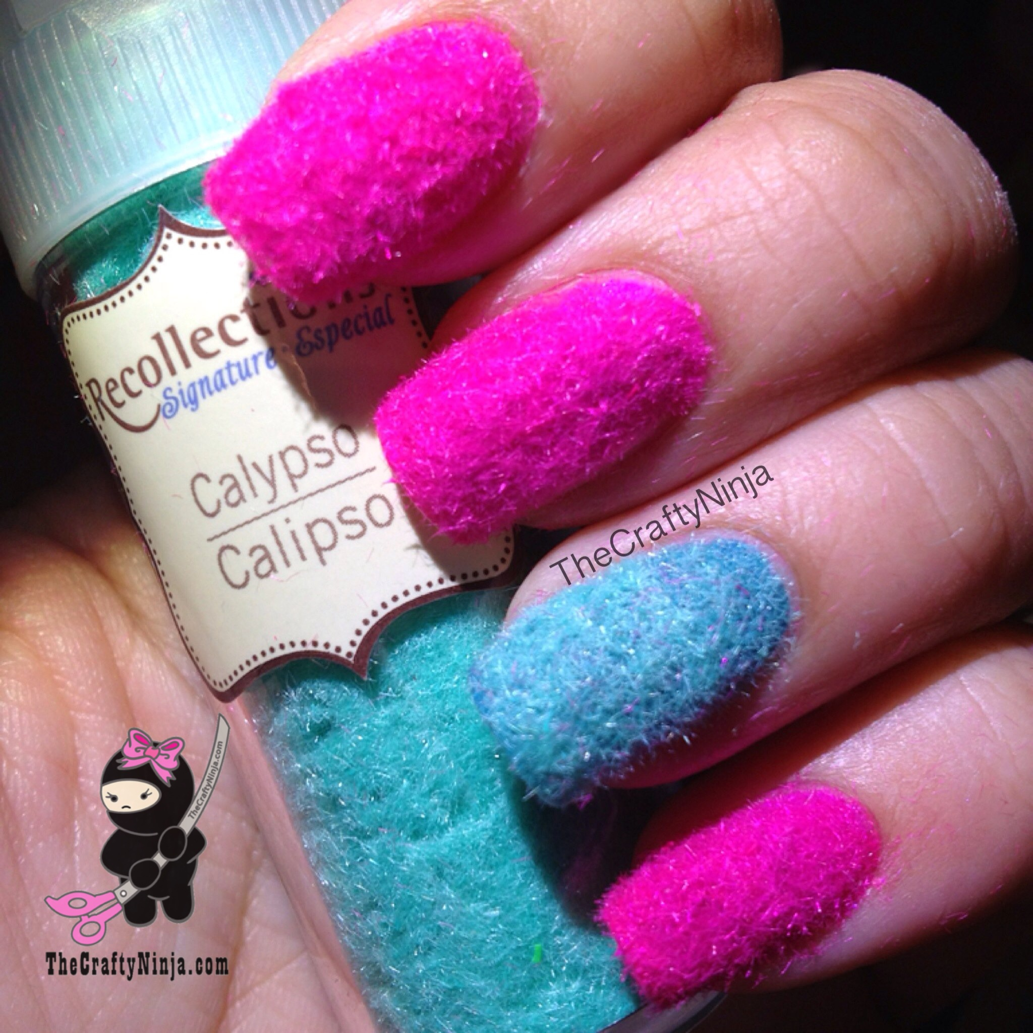 Velvet Flocking Nails | The Crafty Ninja
