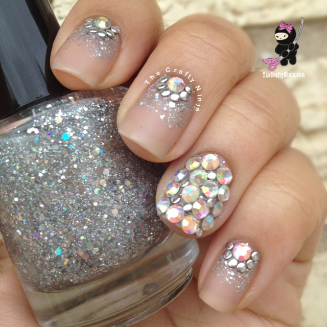 Crystal Gel Nail Video: Glitter Bling Crystal Nails